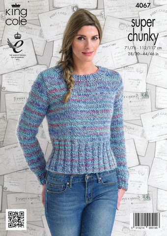 Sweaters in King Cole Super Chunky (4067)