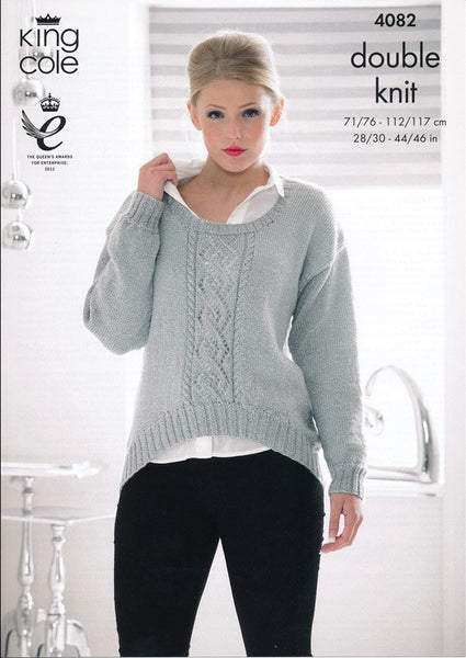 Sweater and Cardigan in King Cole DK (4082)