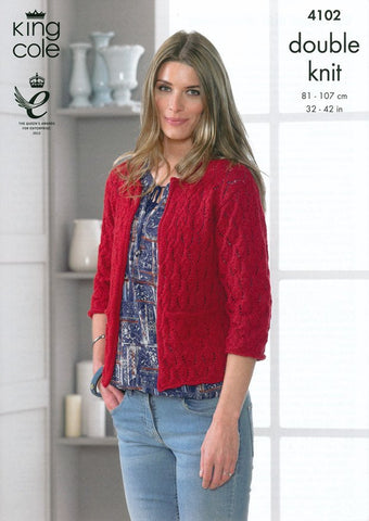 Cardigan and Waistcoat in King Cole DK (4102)-Deramores
