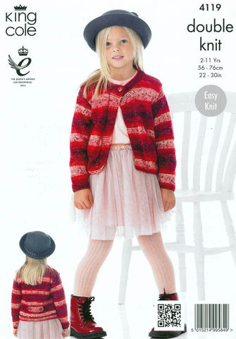 Cardigans in King Cole Spash DK (4119)-Deramores