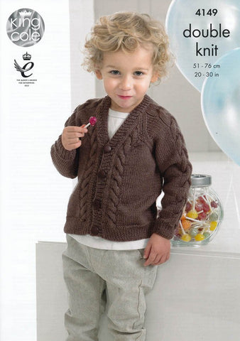 Sweater and Cardigan in King Cole Comfort DK (4149)