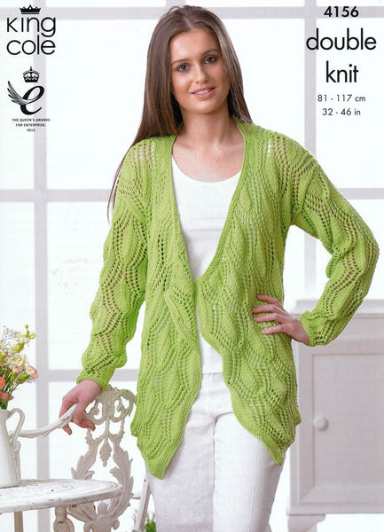 Sweater and  Cardigan in King Cole DK (4156)