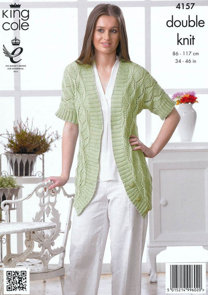 Cardigan and Waistcoat in King Cole DK (4157)-Deramores
