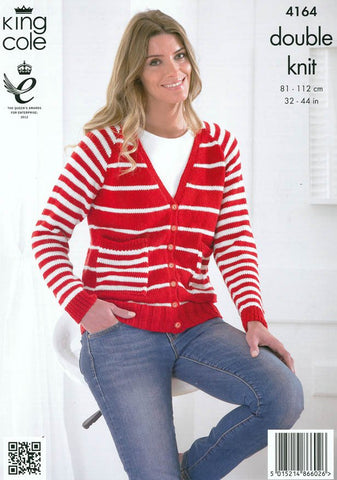 Cardigan, Sweater and Scarf in King Cole DK (4164)-Deramores