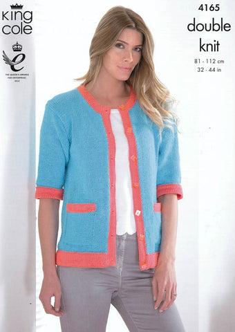 Cardigans in King Cole DK (4165)-Deramores