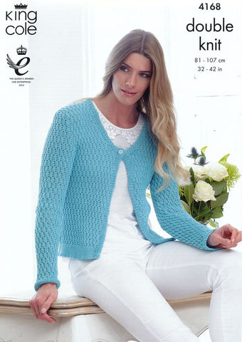 Cardigan and Sweater in King Cole DK (4168)-Deramores