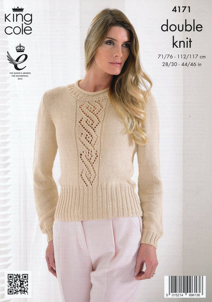 Summer Top and Sweater in King Cole Bamboo DK (4171)