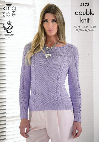 Cardigan and Sweater in King Cole Bamboo DK (4173)-Deramores
