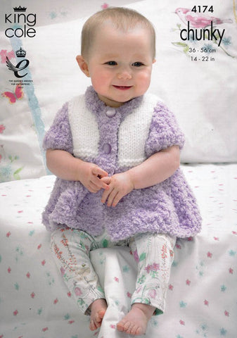 Cardigans and Sweater in King Cole Cuddles and Comfort Chunky (4174)-Deramores