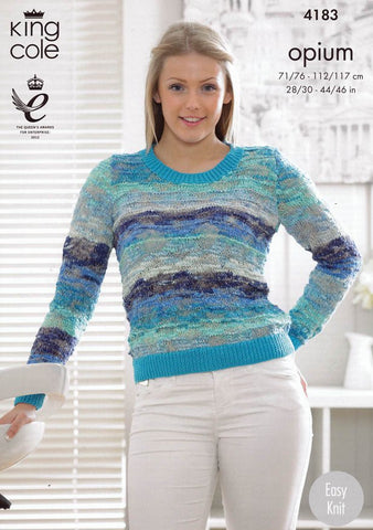 Sweater and Cardigan in King Cole Opium Palette (4183)