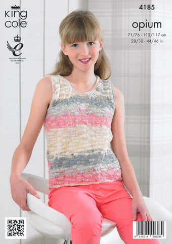Summer Tops With And Without Frill in King Cole Opium Palette (4185)