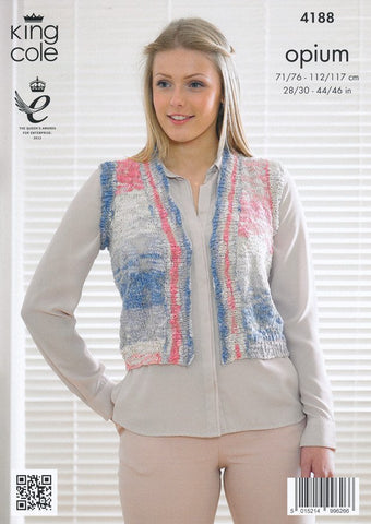 Edge to Edge Jacket and Waistcoat in King cole Opium Palette (4188)-Deramores