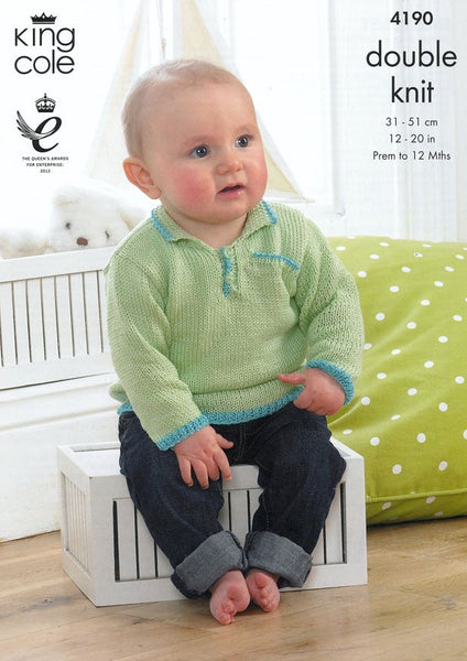 Baby Set in King Cole DK (4190)-Deramores