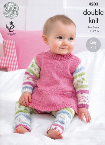 Tunic, Cardigan and Leggings in King Cole Cherish and Cherished DK (4203)