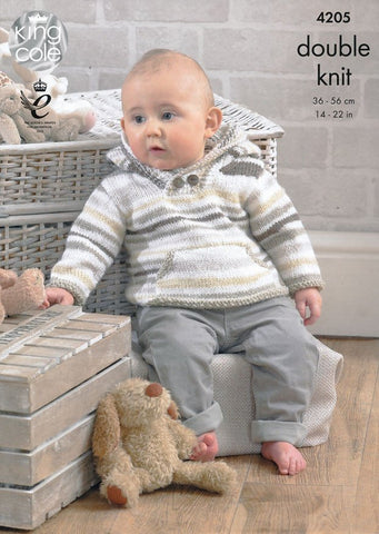 Baby Set in King Cole DK (4205)-Deramores