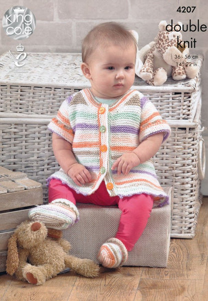 Baby Set in King Cole DK (4207)-Deramores