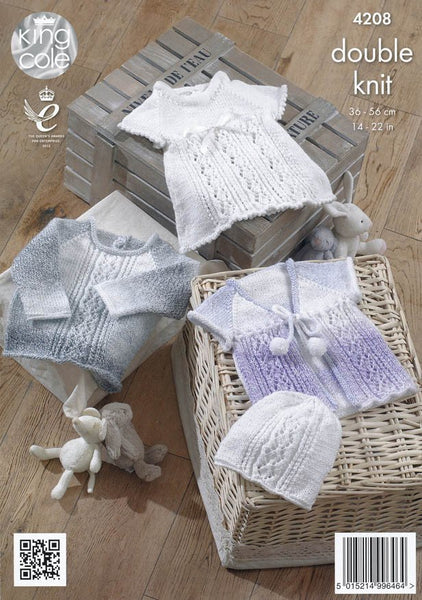 Baby Set in King Cole DK (4208)-Deramores