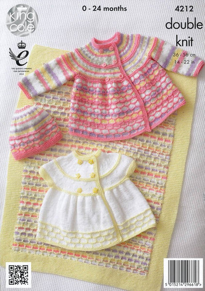 Jackets, Hat and Blanket in King Cole DK (4212)-Deramores