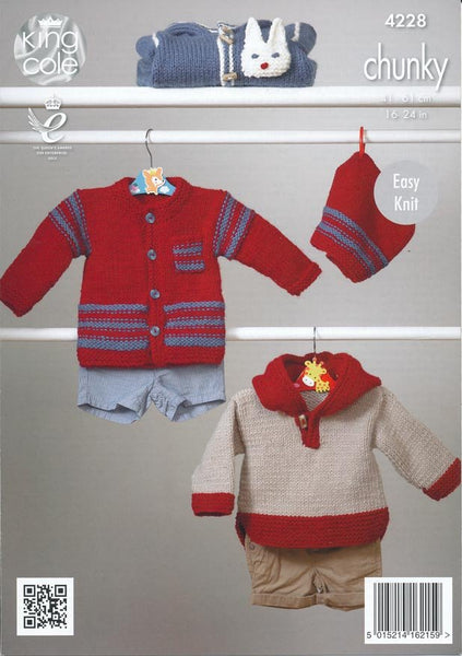 Outdoor Suit, Jacket, Hat and Top in King Cole Comfort Chunky (4228)