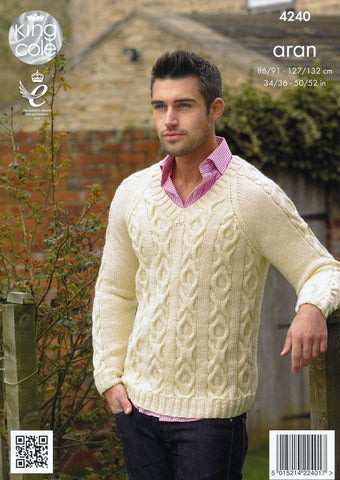 Jacket and Sweater in King Cole Fashion Aran (4240)-Deramores