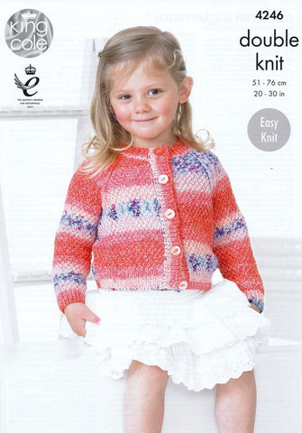 Sweater and Cardigan in King Cole Splash DK (4246)