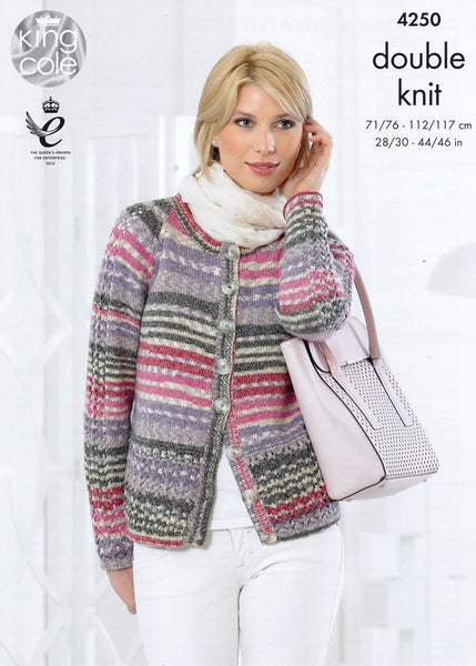 Cardigan and Sweater in King Cole Drifter DK (4250)-Deramores