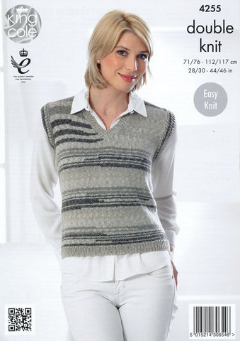 Slipover and Waistcoat in King Cole Drifter DK (4255)