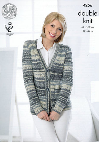 Cardigan and Waistcoat in King Cole Drifter DK (4256)-Deramores