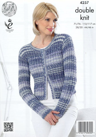 Cardigan and Sweater in King Cole Drifter DK (4257)-Deramores