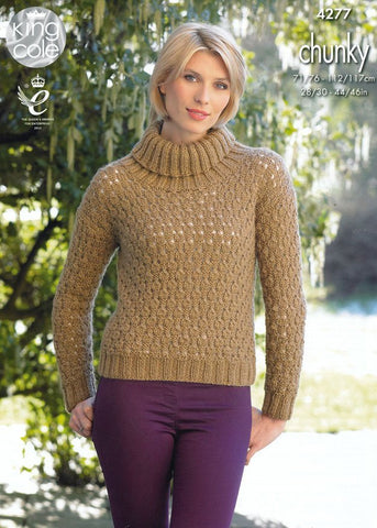 Waistcoat and Sweater in King Cole Magnum Chunky (4277)