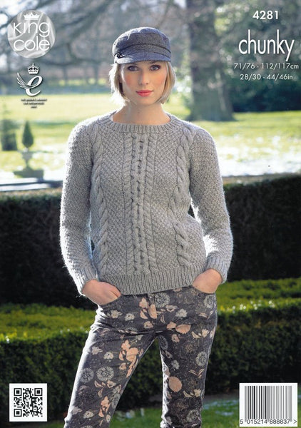Sweaters and Hat in King Cole Magnum Chunky (4281)