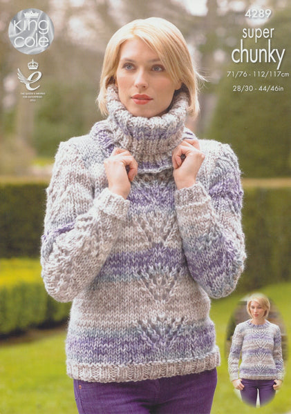 Sweaters and Cowl in King Cole Big Value Super Chunky Tints (4289)