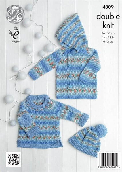 Baby Set in King Cole DK (4309)-Deramores