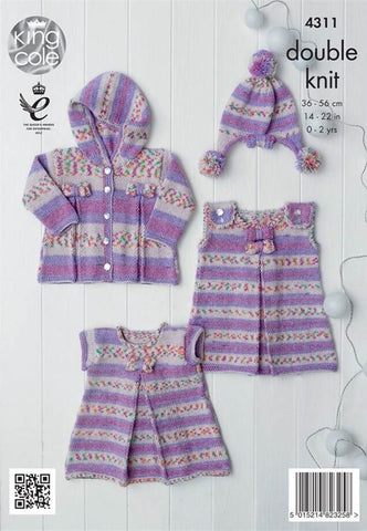 Baby Set in King Cole DK (4311)-Deramores