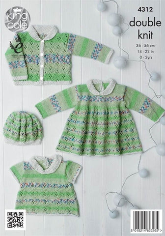 Baby Set in King Cole DK (4312)-Deramores