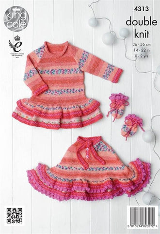 Baby Set in King Cole DK (4313)-Deramores