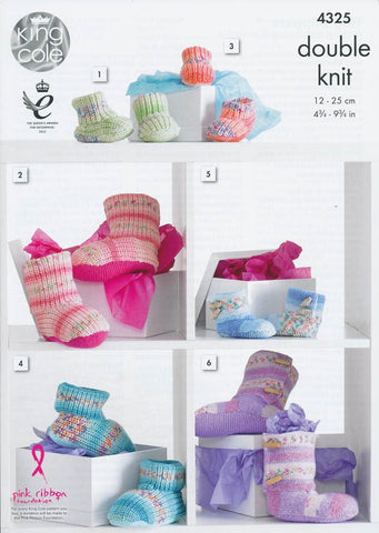Hug Slippers in King Cole Drifter for Baby DK (4325)-Deramores
