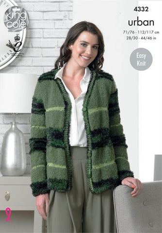 Cardigans in King Cole Urban (4332)-Deramores