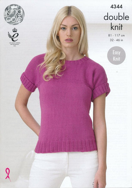 Tops in King Cole Cottonsoft DK (4344)