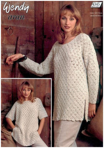 Ladies Tunic in Wendy Aran (4345) Digital Version-Deramores