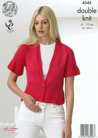Cardigans in King Cole Cottonsoft DK (4345)-Deramores
