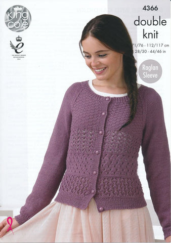 Sweater and Cardigan in King Cole Baby Alpaca DK (4366)