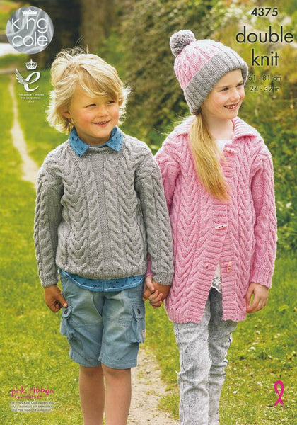 Sweater, Cardigan and Hat in King Cole DK (4375)