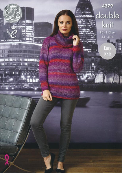 Sweater and Cardigan in King Cole Shine DK (4379)