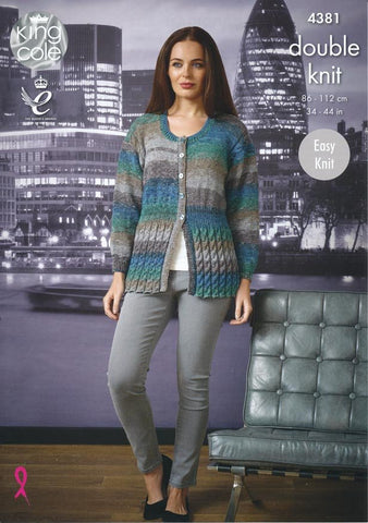 Sweater and Cardigan in King Cole Shine DK (4381)