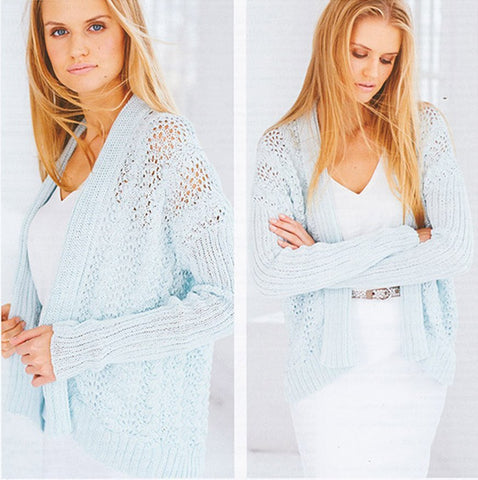 Lace Cardigans in Rico Design Essentials Cotton DK (97438)-Deramores