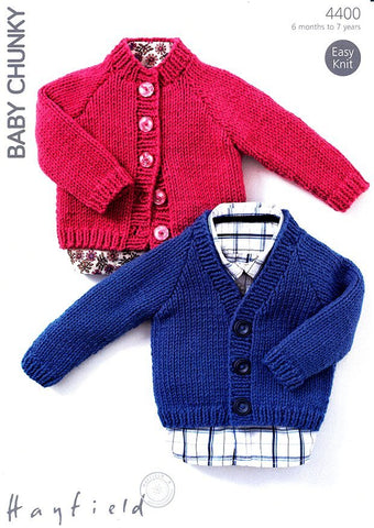 Cardigans in Hayfield Baby Chunky (4400)-Deramores
