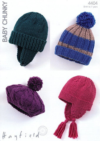 Hats in Hayfield Baby Chunky (4404)-Deramores