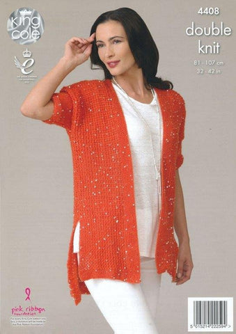 7e241c48c6514f Top and Cardigan in King Cole Galaxy DK (4408)