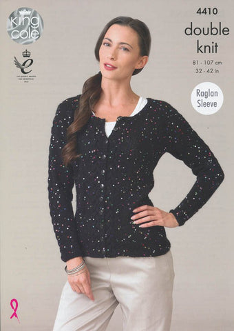 Cardigans in King Cole Galaxy DK (4410)-Deramores